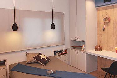 החדר של אלעד ברזילי. עיצוב שרון דוד וליאת הראל. צילום רפאל בן משה