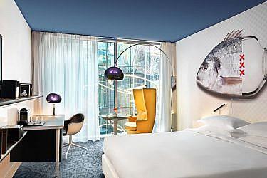 חדר במלון. צילום: באדיבות Andaz Amsterdam