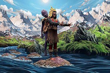ידועה בפן החזותי החזק של היצירות שלה. ביורק   צילום מתוך הקליפ ״Wonderlust״, 2008 באדיבות מומה