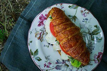 כריך קרואסון עם גבינת ברי בשלה | צילום: בן יוסטר