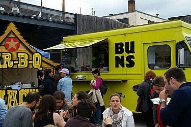 משאיות האוכל בברלין | צילום: שרון בן דוד