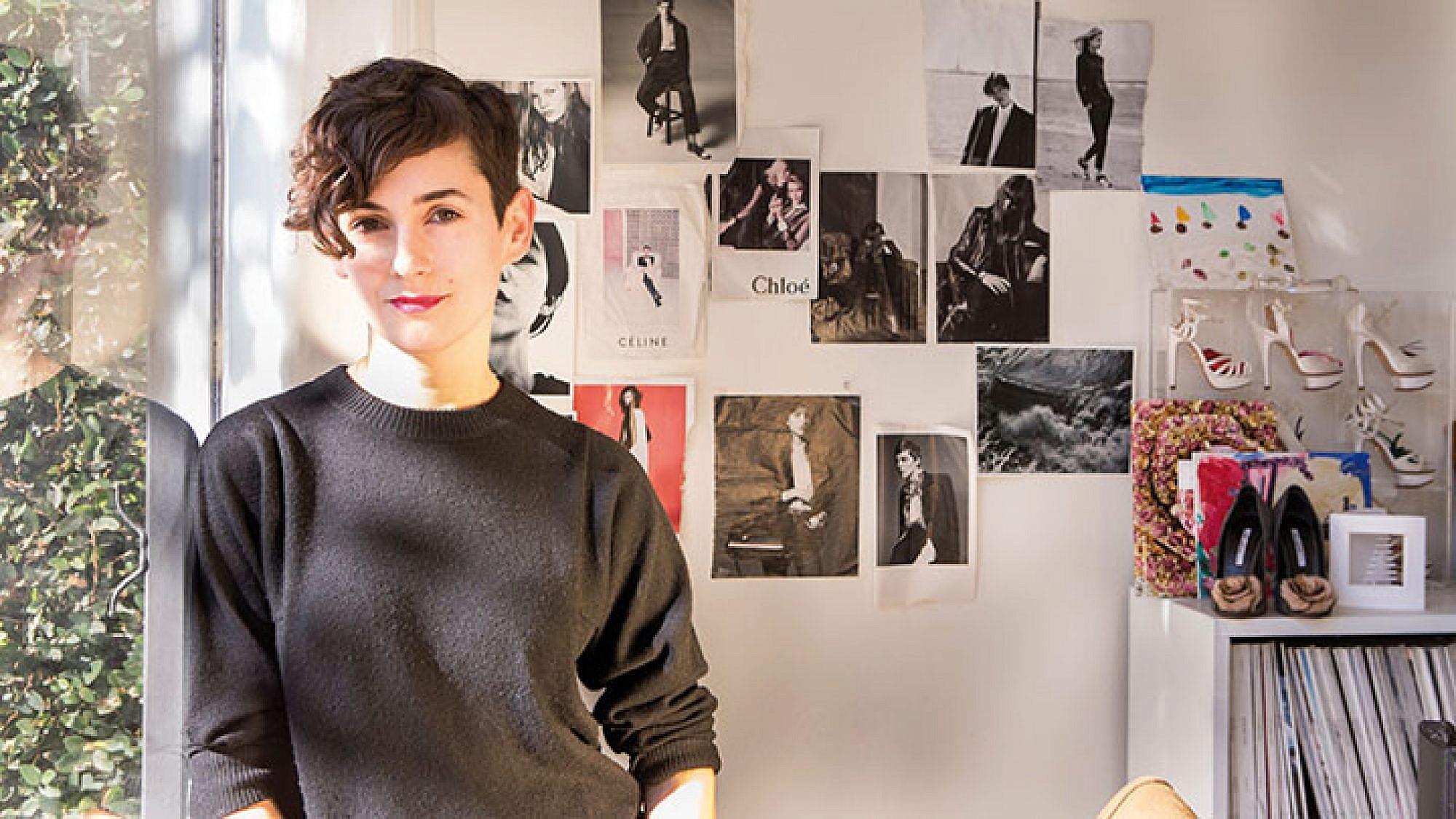 קרלה וולש בסטודיו שלה | צילום: ניב אושן שנק