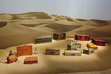 """מתוך התערוכה """"לואי ויטון - הפליגו, טוסו, טיילו"""" המוצגת במוזיאון הגרנד פאלה בפריז   צילום: יח""""צ"""