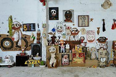 התערוכה הראשונה של עמית קבסה | צילום: בועז נודלמן