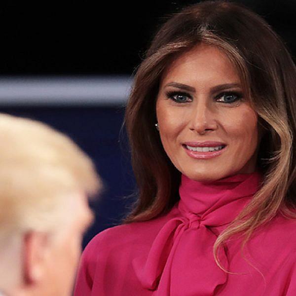לא באה לה בטוב. מלניה טראמפ   צילום: GettyImages