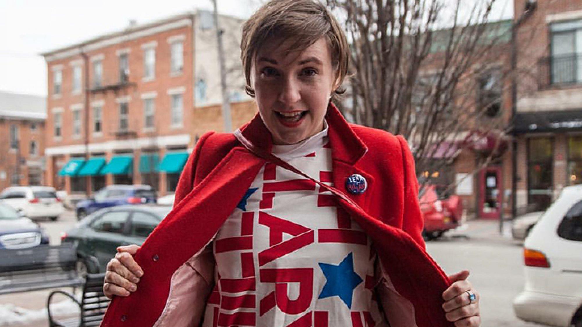 דנהאם בקמפיין של הילרי קלינטון | צילום מתוך אינסטגרם