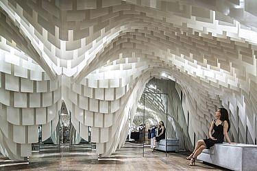 חנות אופנה בסין: תחושה של תקרה אלסטית | עיצוב: 3GATTI | צילום: Shen Qiang