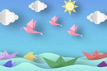 קישוטים לסוכה מאוריגמי | צילום: Shutterstock