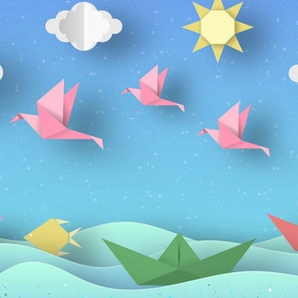 קישוטים לסוכה מאוריגמי   צילום: Shutterstock
