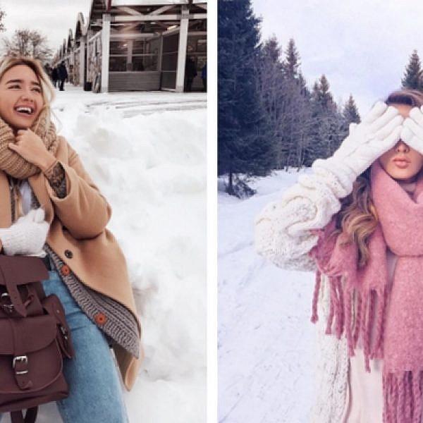 בלוגריות אופנה בחורף: מתוך חשבונות האינסטגרם @julia.haupt ו-@mezenova
