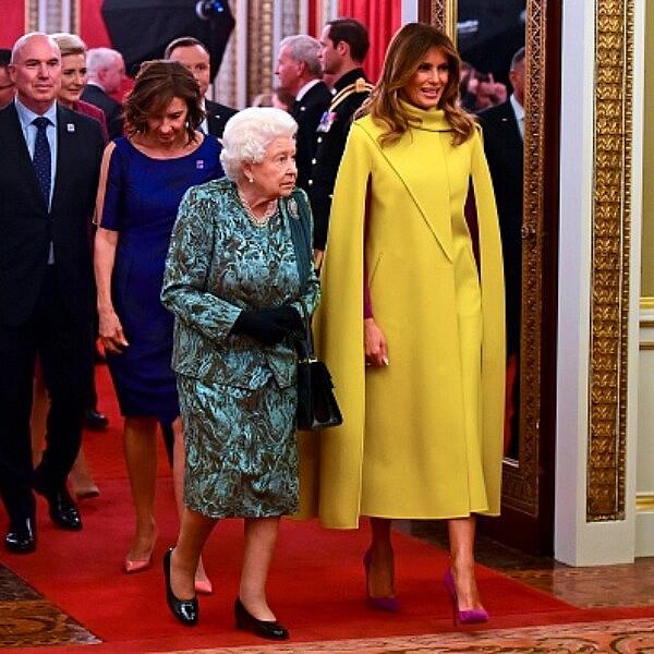 מלניה טראמפ ומלכת אנגליה | צילום: GEOFF PUGH/POOL/AFP via Getty Images