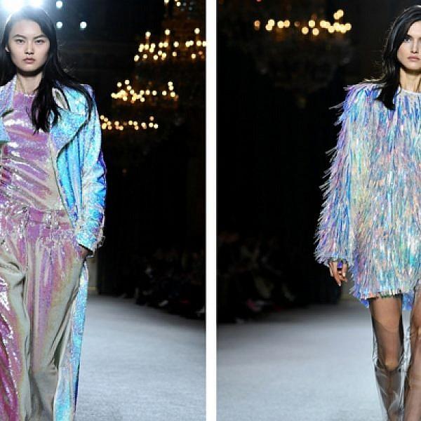 למה העיצובים האלו מוכרים לנו מאיזה שהוא מקום? התצוגה של בלמיין בשבוע האופנה בפריז 2018 | צילום: Gettyimages
