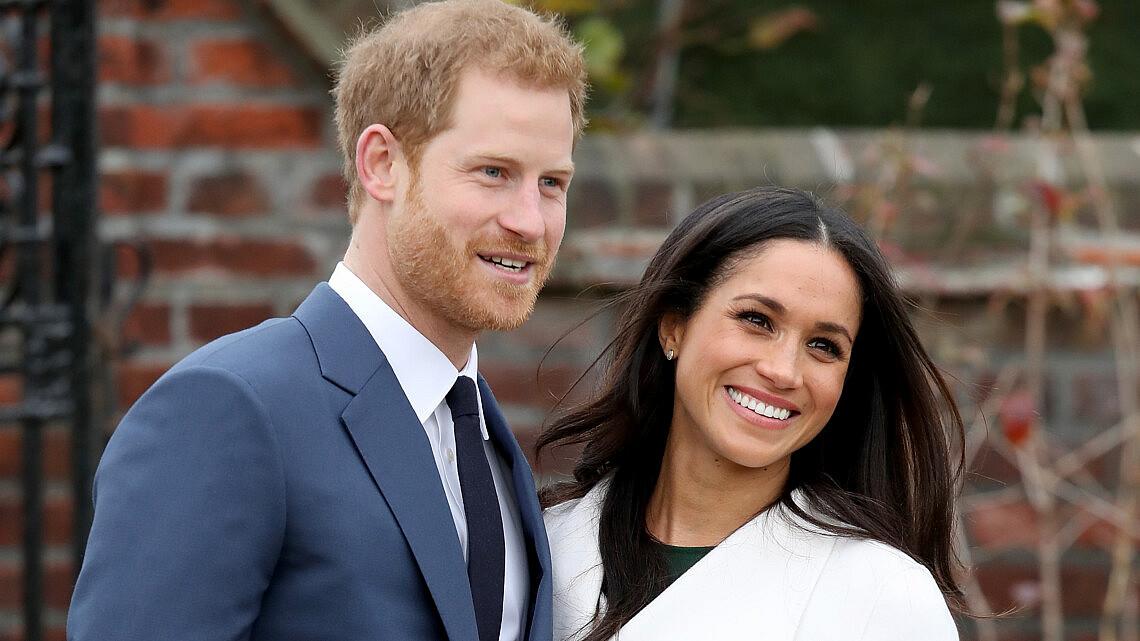 מייגן מרקל והנסיך הארי בהכרזת האירוסין שלהם | צילום: Gettyimages