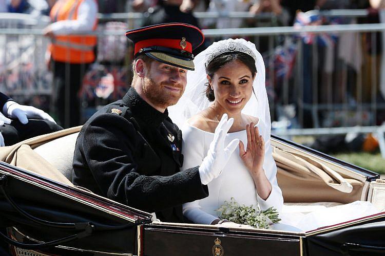 מייגן מרקל והנסיך הארי בחתונה המלכותית | צילום: Gettyimages