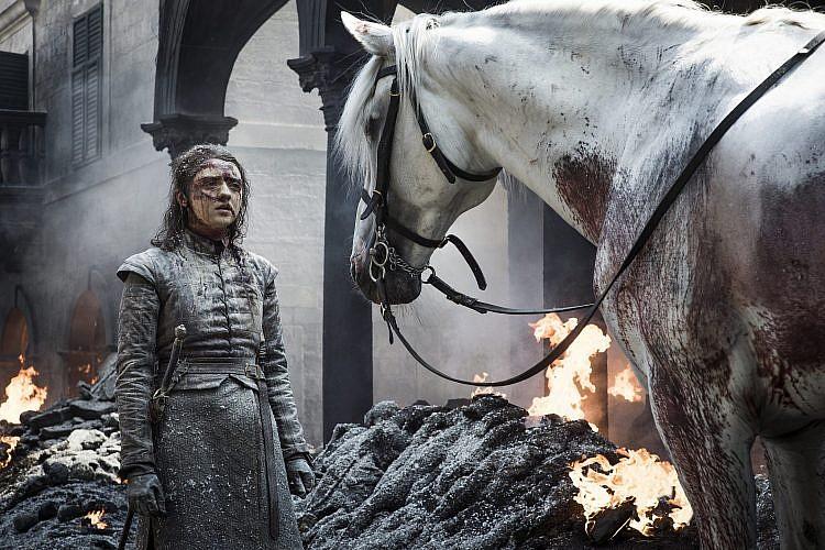 האבירה על הסוס הלבן. האם אריה תוסיף שם חדש לרשימת החיסול?   צילום: Helen Sloan/HBO