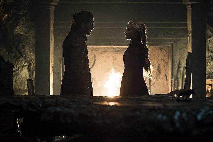 תתקדמו. דאינריז וג'ון שוב חופרים   צילום: Helen Sloan/HBO