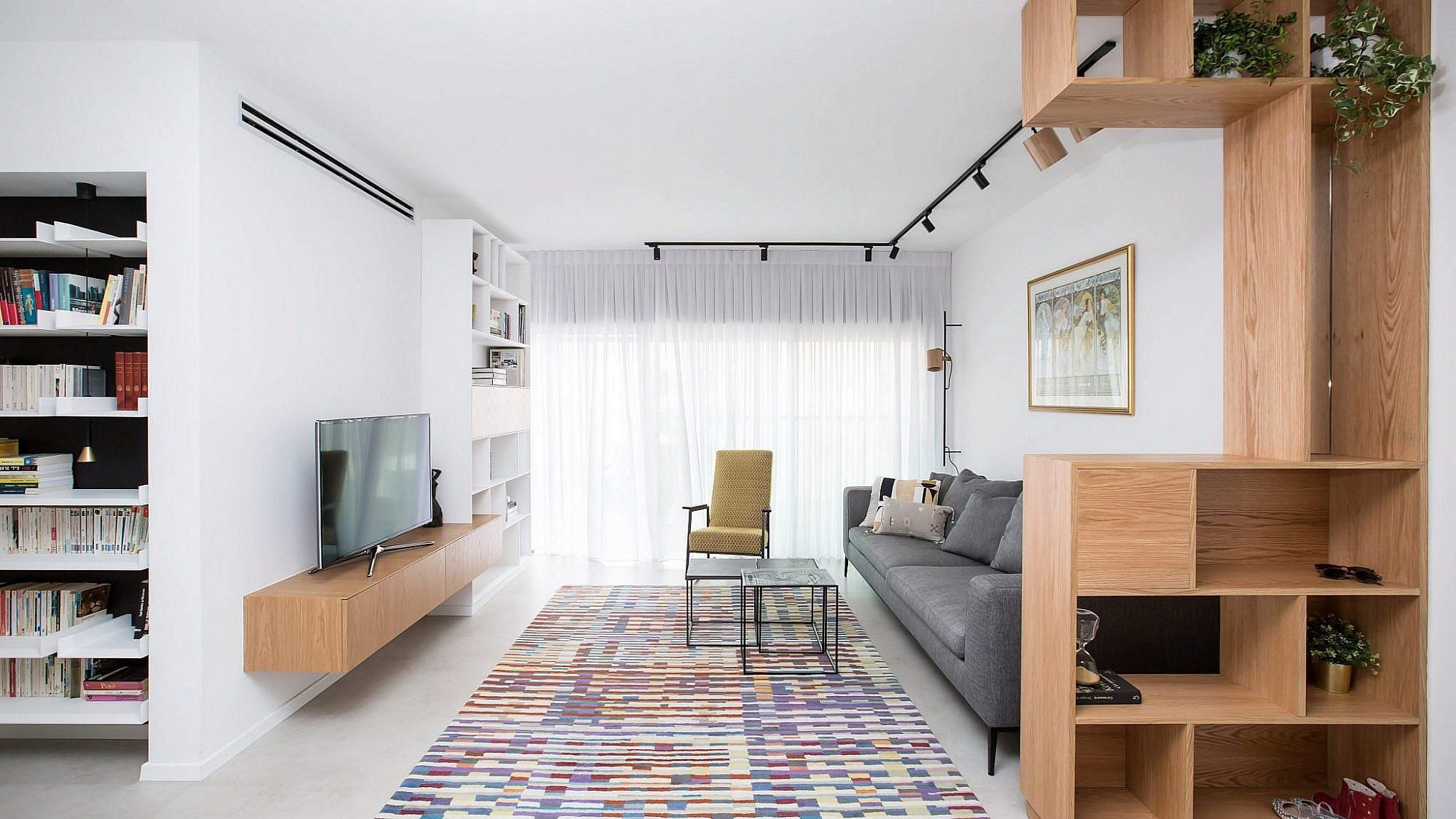 עיצוב פנים: כך הפכה דירה עייפה בתל אביב לפנינה משפחתית