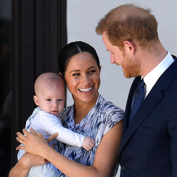 מייגן, הנסיך הארי וארצ'י | צילום:Toby Melville  Pool/Getty Images