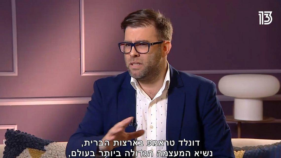 אורן חזן מדבר על אביו הרוחני | צילום מסך מתוך רשת 13