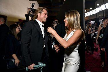 ג'ניפר אניסטון ובראד פיט בטקס פרסי ה-SAG   צילום: Emma McIntyre/Getty Images for Turner