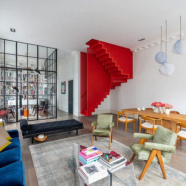 דירה בלונדון | צילום: Gavriil Papadiotis, עיצוב: Michaelis Boyd Associates