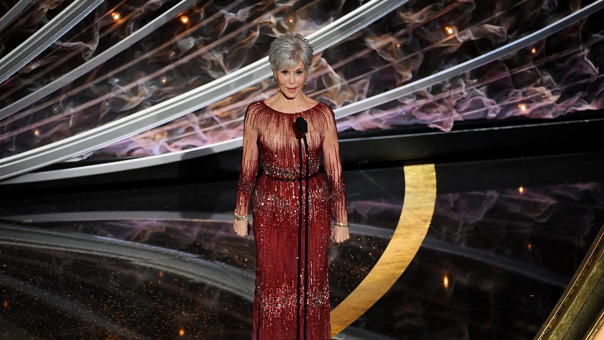 ג/'יין פונדה בטקס האוסקר האחרון   צילום: Kevin Winter/Getty Images