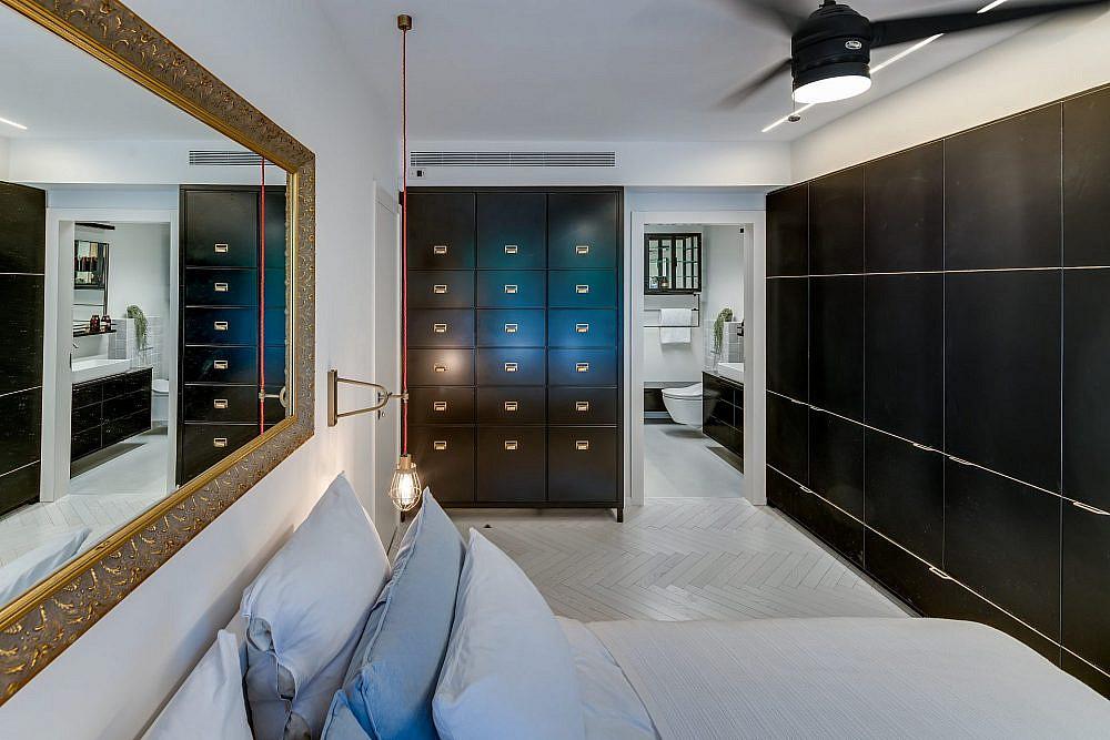 חדר הורים שהפך לסוויטה מפנקת | עיצוב ואדריכלות פנים: מיטל שחר, צילום: ליאור טייטלר