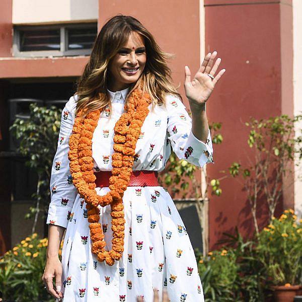 מלניה טראמפ בהודו | צילום SAJJAD HUSSAIN AFP via Getty Images