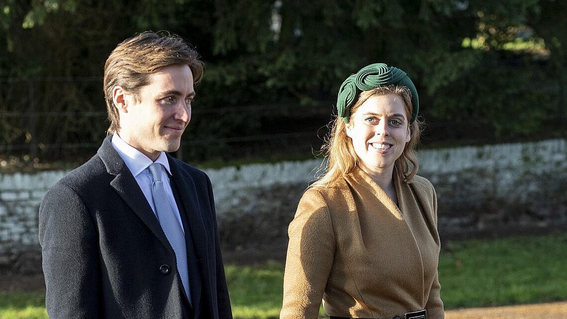הנסיכה ביאטריס ובעלה איל ההון אדוארדו מפלי מוזי | צילום UK press pool uk press via gettyimages