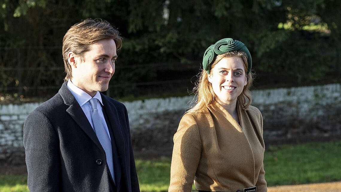 הנסיכה ביאטריס ובעלה לעתיד, איל ההון אדוארדו מפלי מוזי   צילום UK press pool uk press via gettyimages