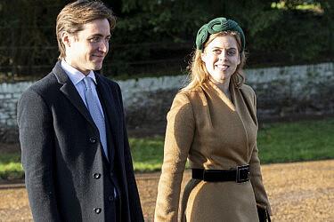 הנסיכה ביאטריס ובעלה איל ההון אדוארדו מפלי מוזי   צילום UK press pool uk press via gettyimages