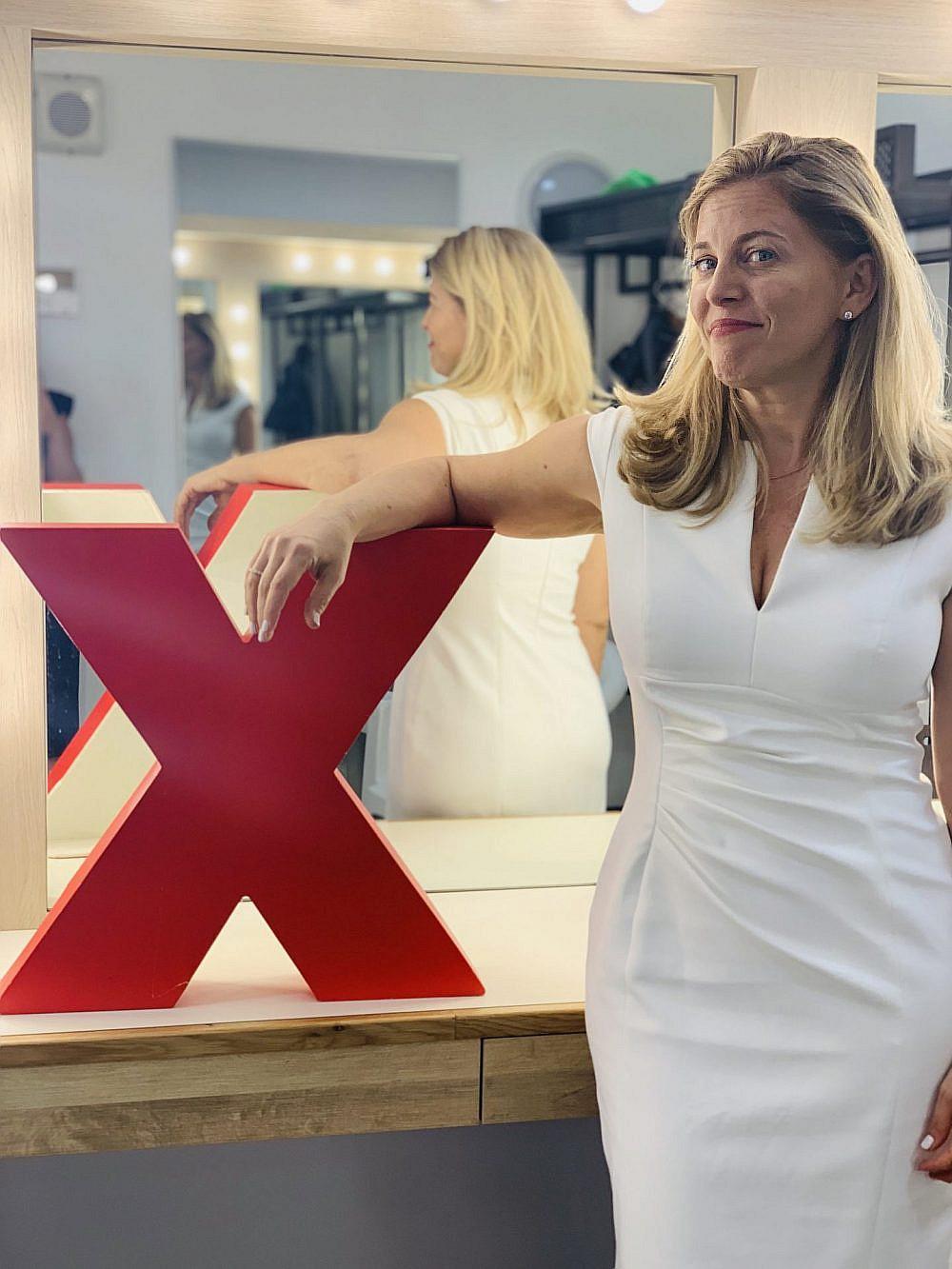 דליה פלדהיים מאחורי הקלעים בכנס TEDx | צילום: מיה כרמי-דרור