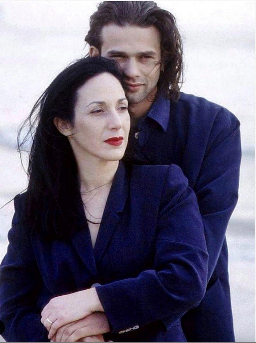דורין פרנקפורט וליאור מילר בקמפיין 1998   צילום מירי דווידוביץ'