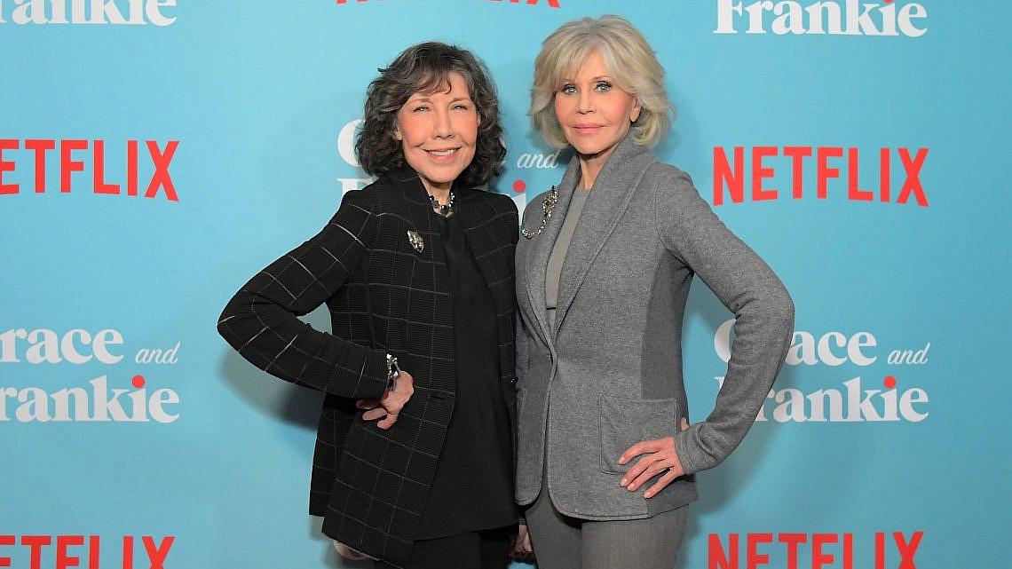 ג'יין פונדה ולילי טומלין | צילום: Charley Gallay/Getty Images for Netflix