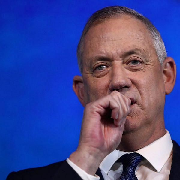 בני גנץ מאוכזב מתוצאות הבחירות | צילום: gettyimages,GALI TIBBON