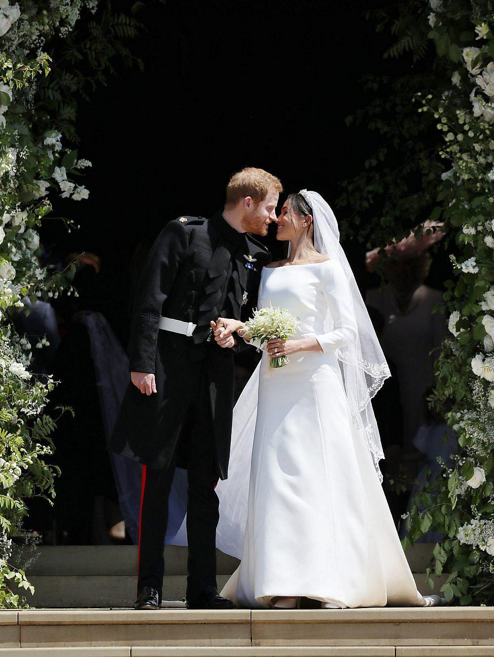 מייגן מרקל והנסיך הארי בחתנוה | צילום: Jane Barlow – WPA Pool/Getty Images