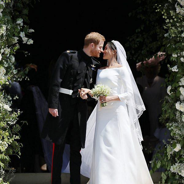 מייגן מרקל והנסיך הארי בחתונה | צילום: Jane Barlow - WPA Pool/Getty Images