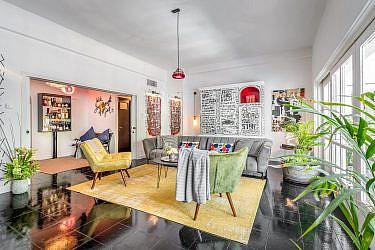 דירת Airbnb בתל אביב | עיצוב וארט: יגיל וילר, צילום: עידן גיל