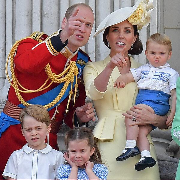 קייט מידלטון, הנסיך ויליאם והילדים לואי, שרלוט וג'ורג' | צילום: DANIEL LEAL-OLIVAS/AFP via Getty Images