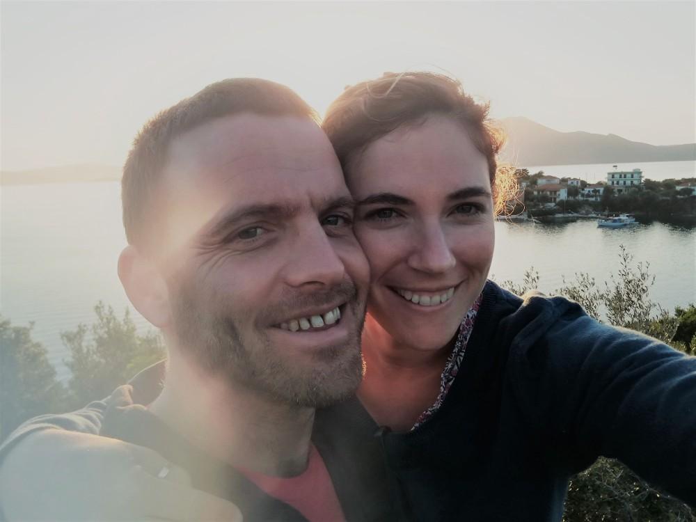 מוריה עם בעלה החדש, אביב | צילום מהאלבום המשפחתי
