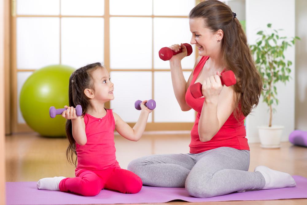 אפשר גם אימון עם הילדים | צילום: shutterstock