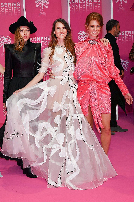 יובל שרף, לירון וייסמן וגאלה קוגן בפסטיבל קאן, 2019 | צילום: Stephane Cardinale – Corbis/Corbis via Getty Images