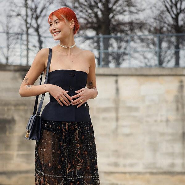 אופנת רחוב בשבוע האופנה בפריז 2020   צילום: Hanna Lassen/Getty Images