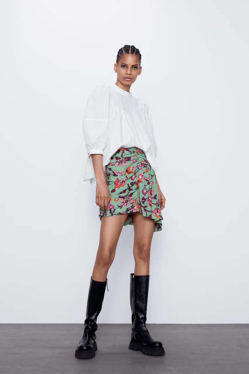 חצאית א-סימטרית של זארה | צילום מסך מהאתר