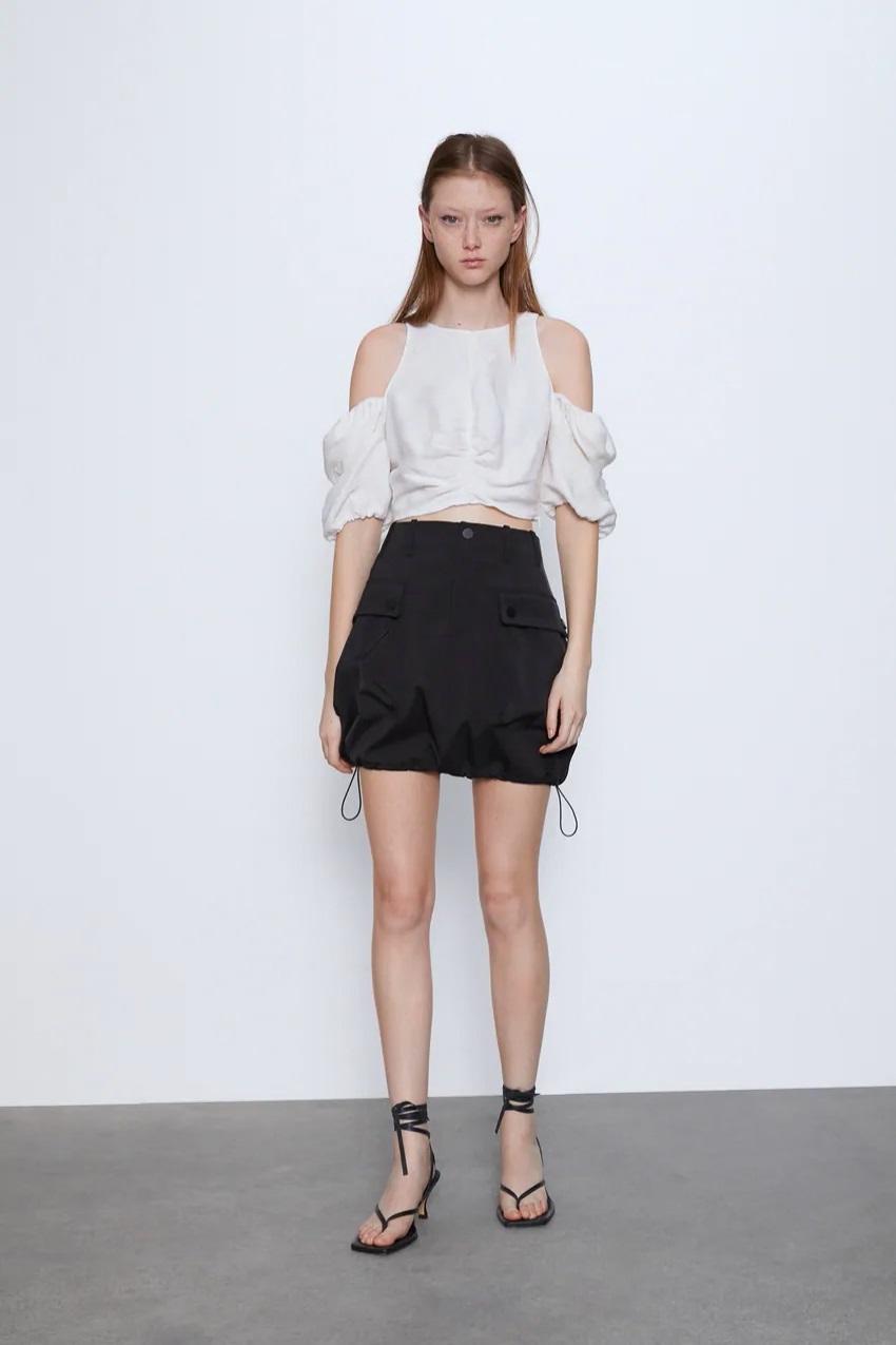 חצאית ספורטיבית של זארה | צילום מסך מהאתר