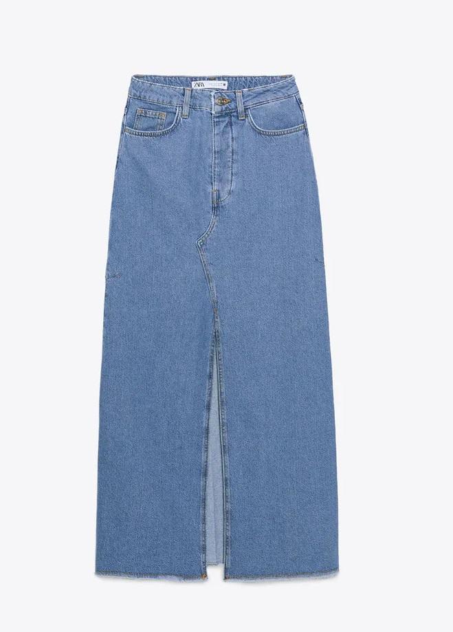 חצאית ג'ינס של זארה | צילום מסך מהאתר