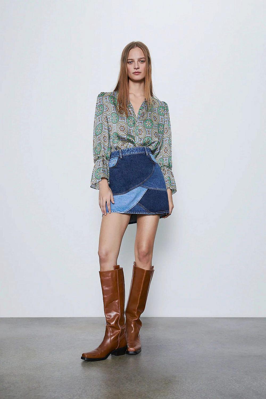 חצאית טלאים של זארה | צילום מסך מהאתר