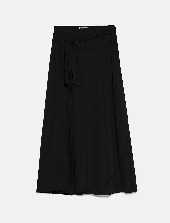 חצאית מעטפת של זארה | צילום מסך מהאתר