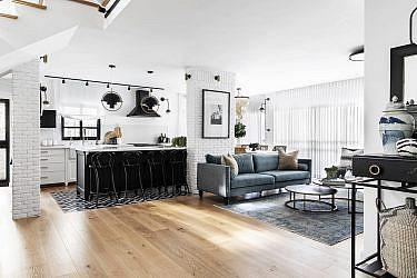 בית בשחור לבן | עיצוב פנים: קרן ניב טולדנו, צילום: איתי בנית