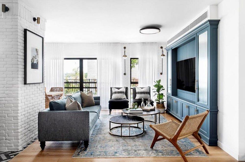 בית שחור לבן – הסלון | עיצוב פנים: קרן ניב טולדנו, צילום: איתי בנית